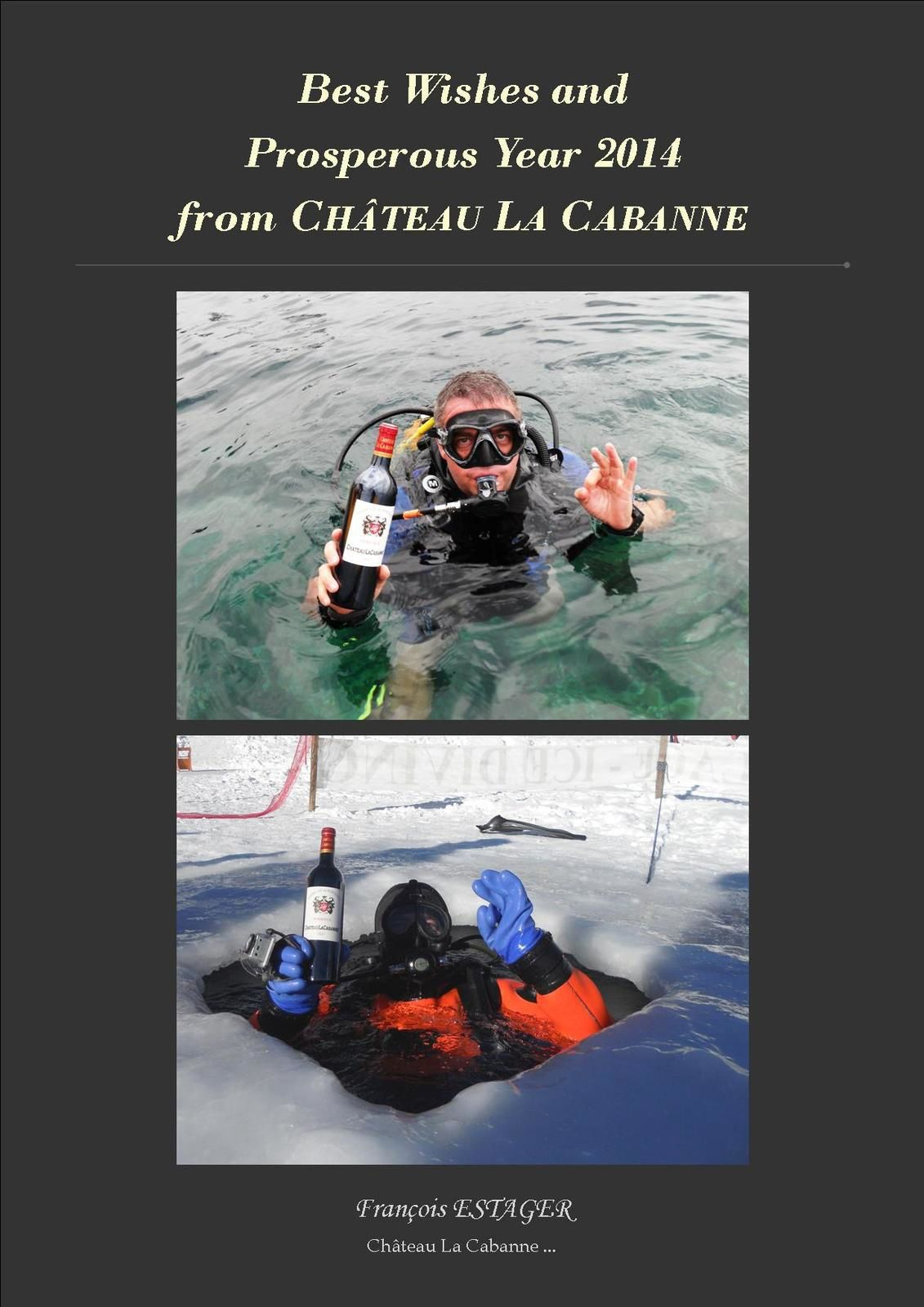 Picture 1 : Sea diving in Corsica - France.              Picture 2 : Ice diving in Tignes - Alps - France