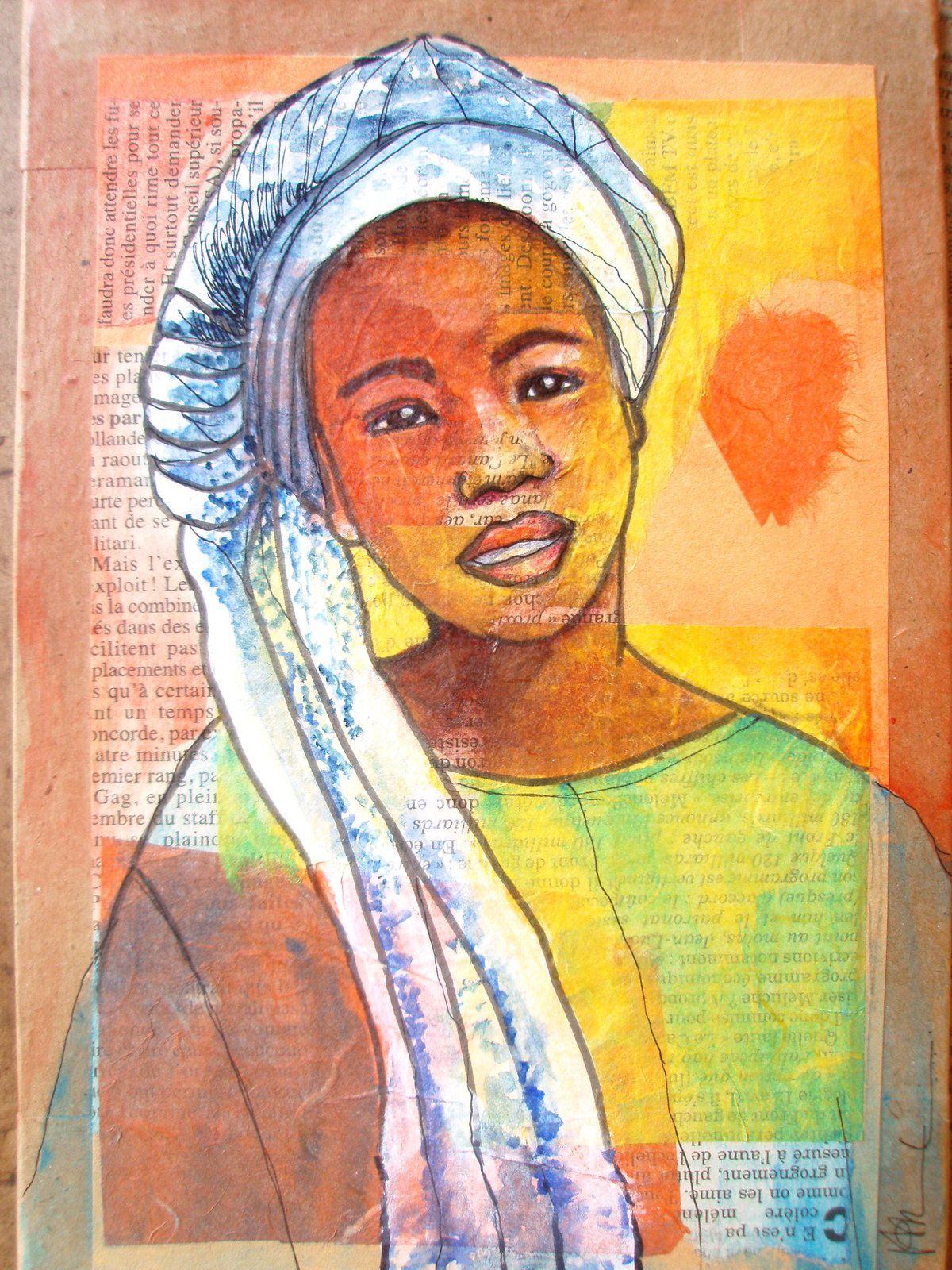 aquarelle, encre, feutres, collages sur bois, 15x22