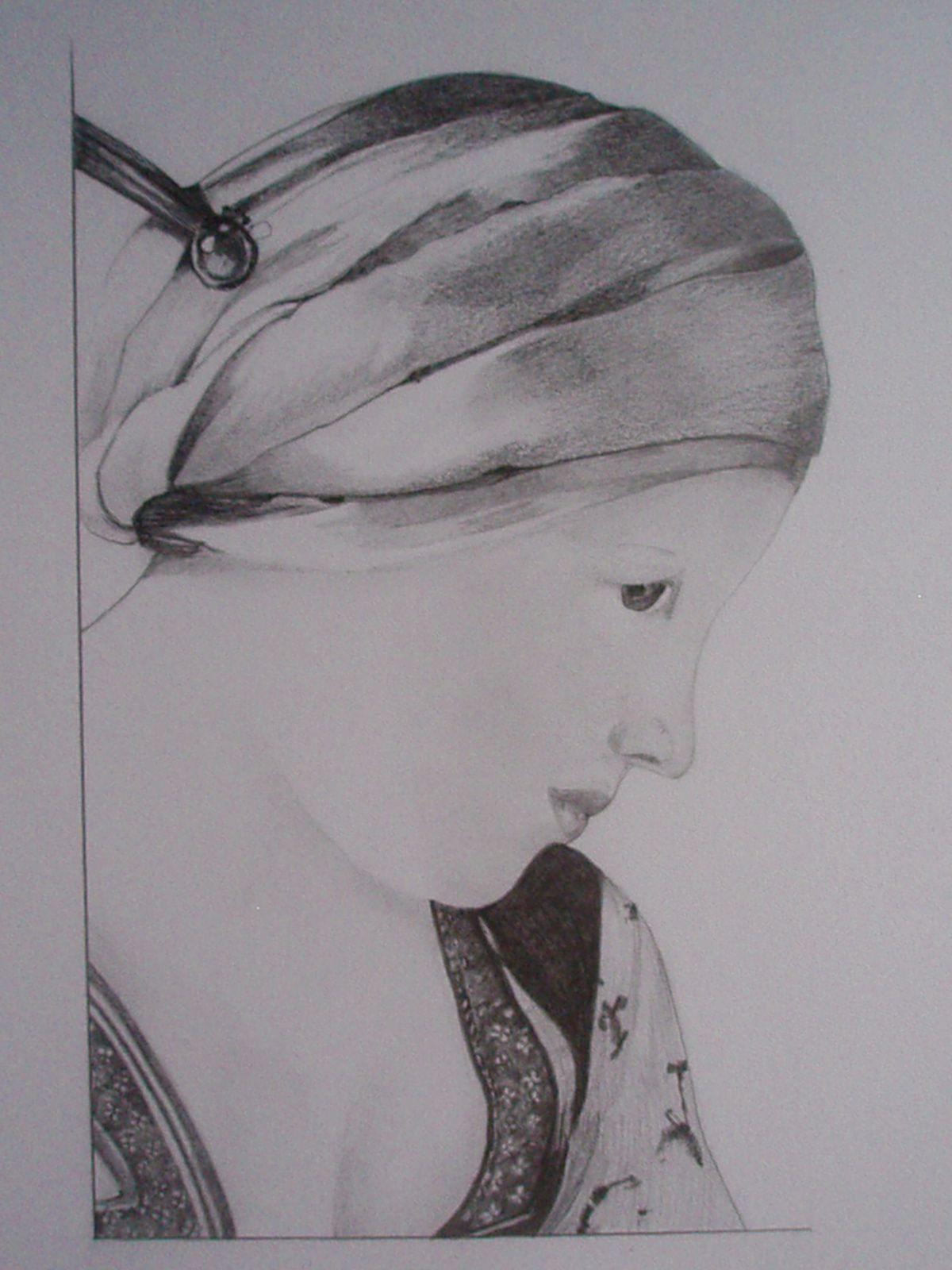 dessin au crayon, 25x35