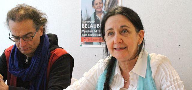 Elisabeth Belaubre en conférence de presse le 14 février 2014