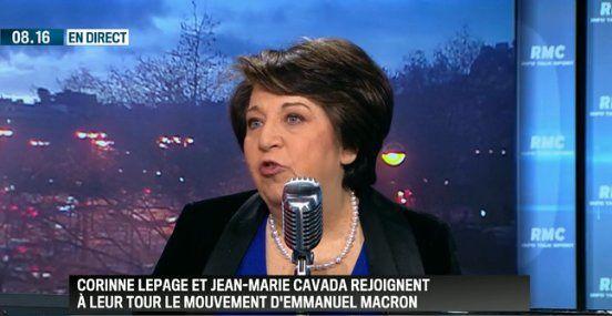 Corinne Lepage le vendredi 13 janvier 2017 dans Bourdin direct sur RMC