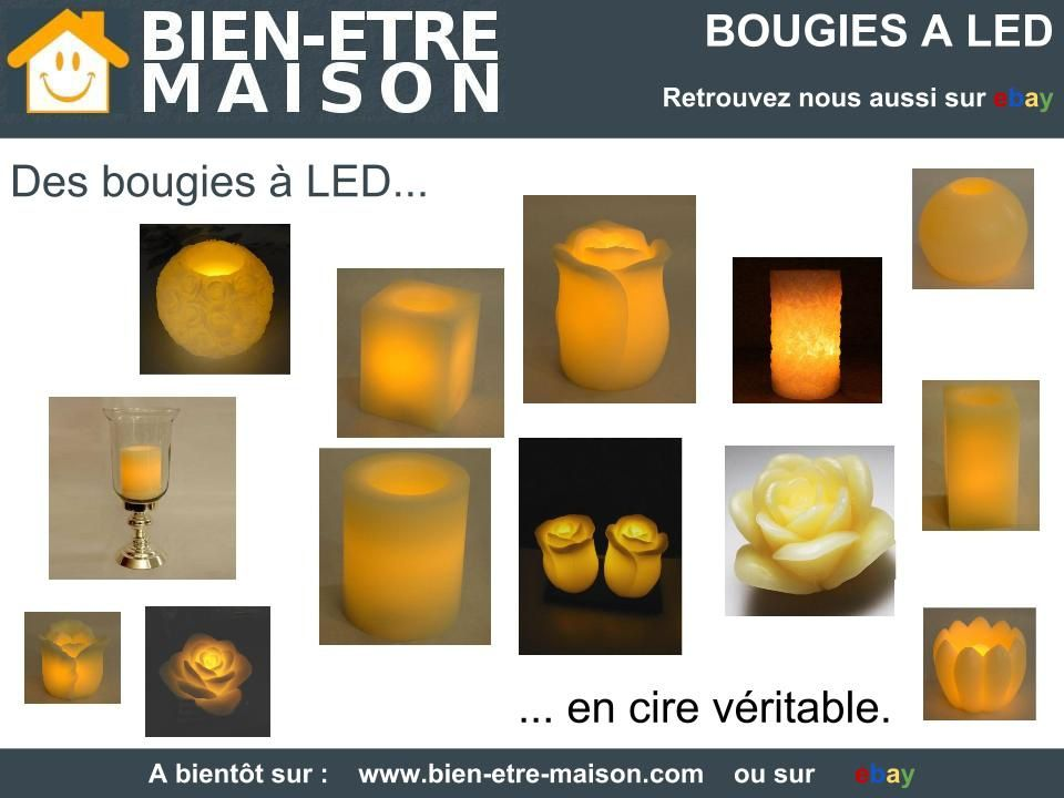 les bougies a led bien etre maison. Black Bedroom Furniture Sets. Home Design Ideas