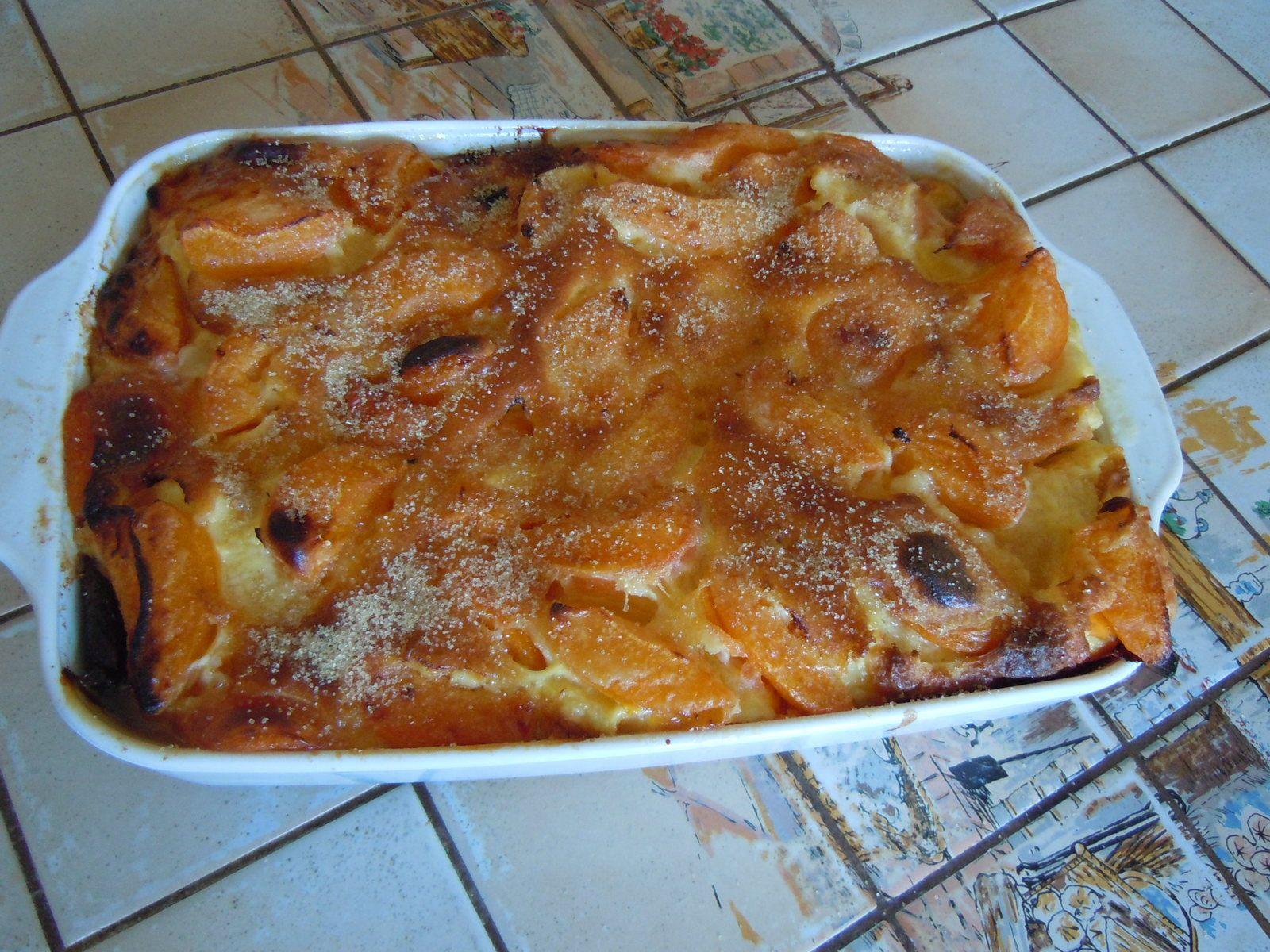 Clafoutis aux abricots fait par ma Maman d'après ma recette fétiche