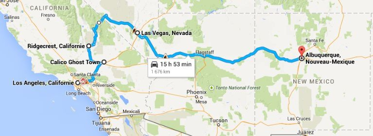 Road-Trip Route 66 Ouest : Los Angeles - Las Vegas - Route 66 - Albuquerque