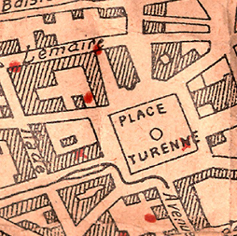 """Collection Denière -  Un plan plus étendu se trouve à la page 63 du livre """"Notre-Dame du Sacré-Coeur   Malo-les-Bains  Notre-Dame des Flots"""" de J et L Denière -  www.deniere.com"""