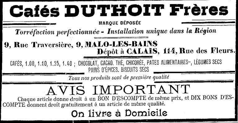Malo-les-Bains: les cafés Duthoit