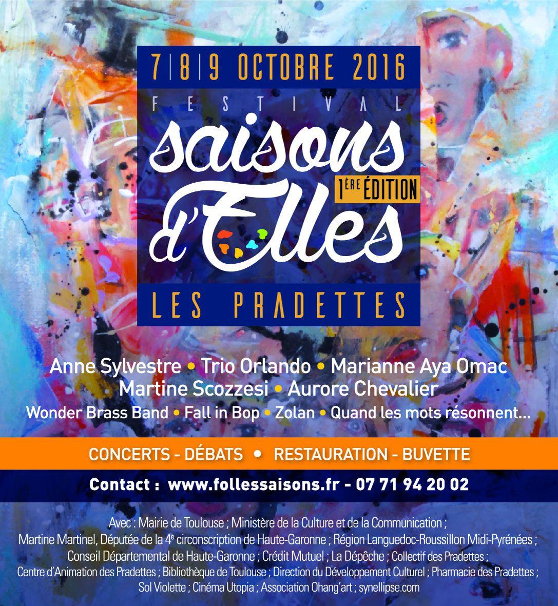 7, 8, 9 OCTOBRE 2016 FESTIVAL SAISONS D'ELLES... les Horaires de la navette gratuite
