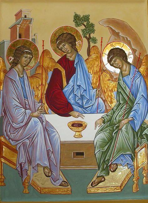 Le stage de cet été qui était consacré à la Trinité de Roublev c'est
