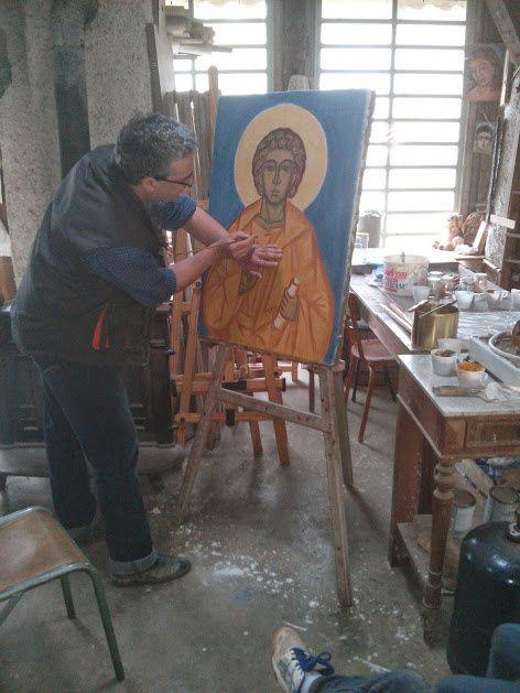 L'Emmanuel, réalisation d'une fresque portative.