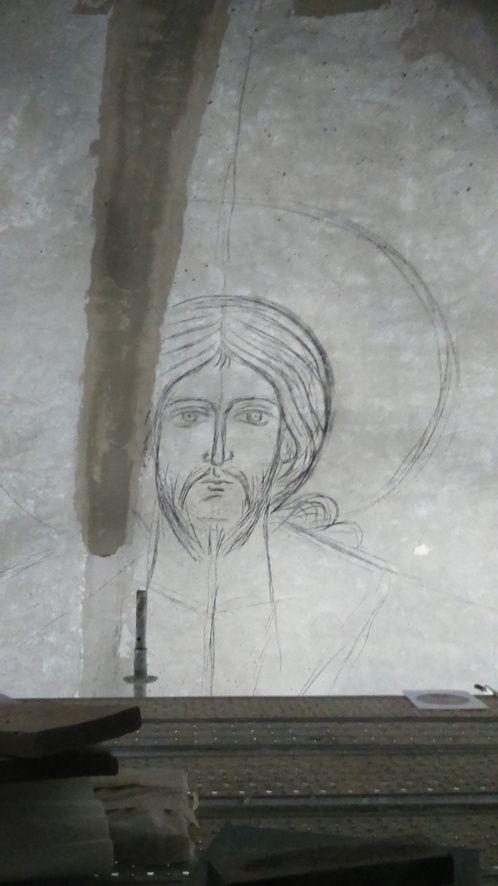 Décoration de la coupole de l'église St Thomas à Sarcelles.