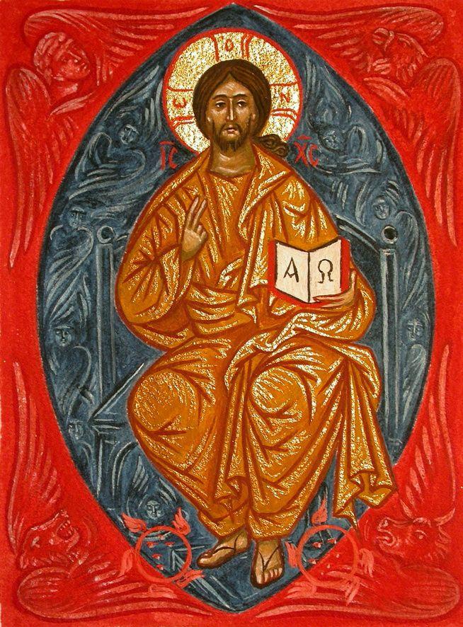 Michael Greschny – Christ en gloire –  10 x 13,5 cm