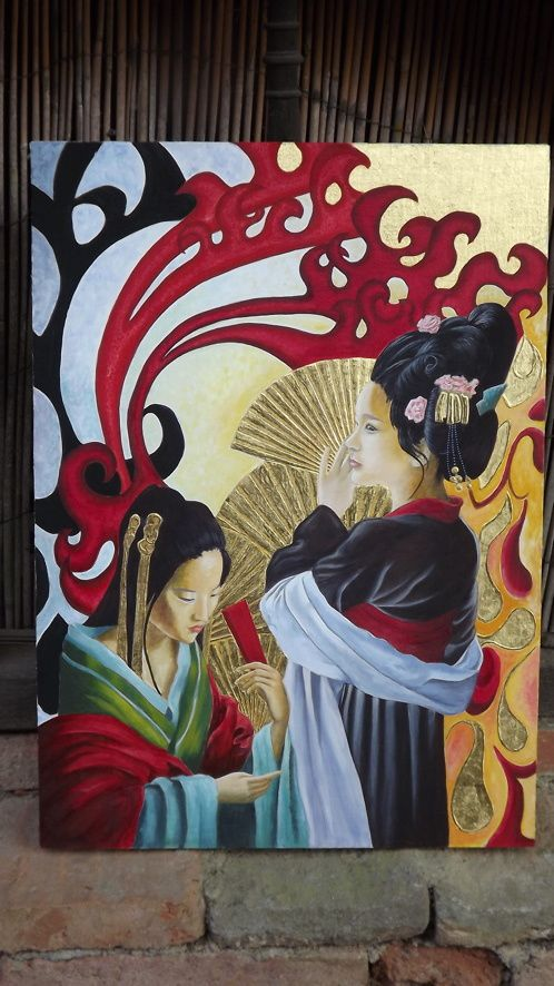 Dans l'esprit de Gustav Klimt.