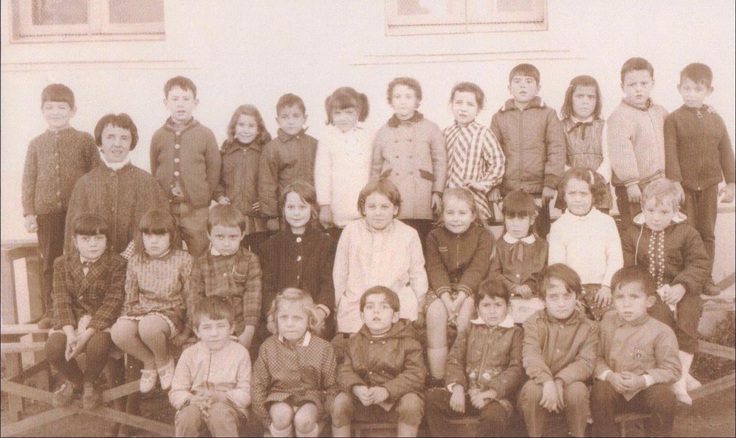 Généalogie:Album photos de classe de Charbonnier de 1934 à 1972