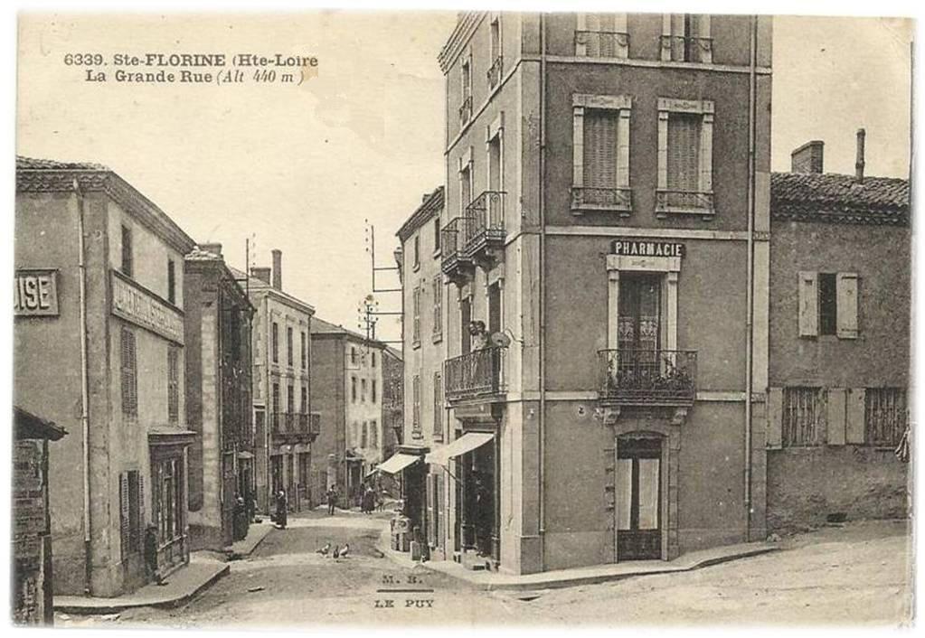 Les villages de Haute-Loire: Ste Florine -la grande rue -rue Royale-