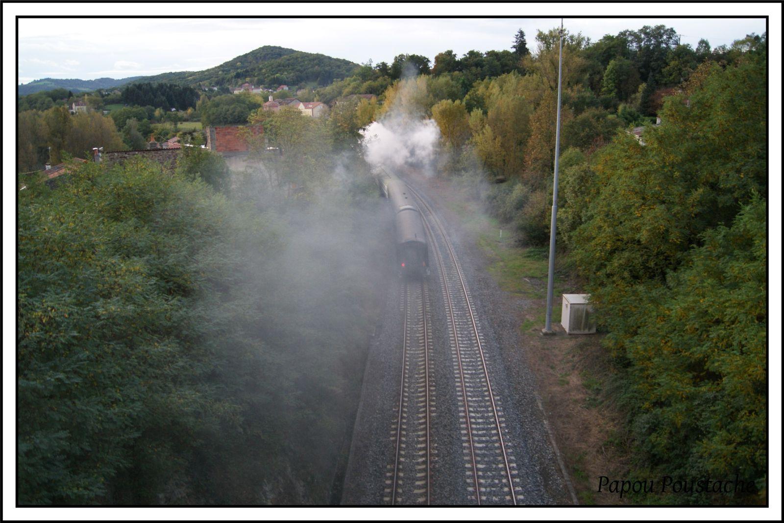 Train vapeur 141R420 en Auvergne