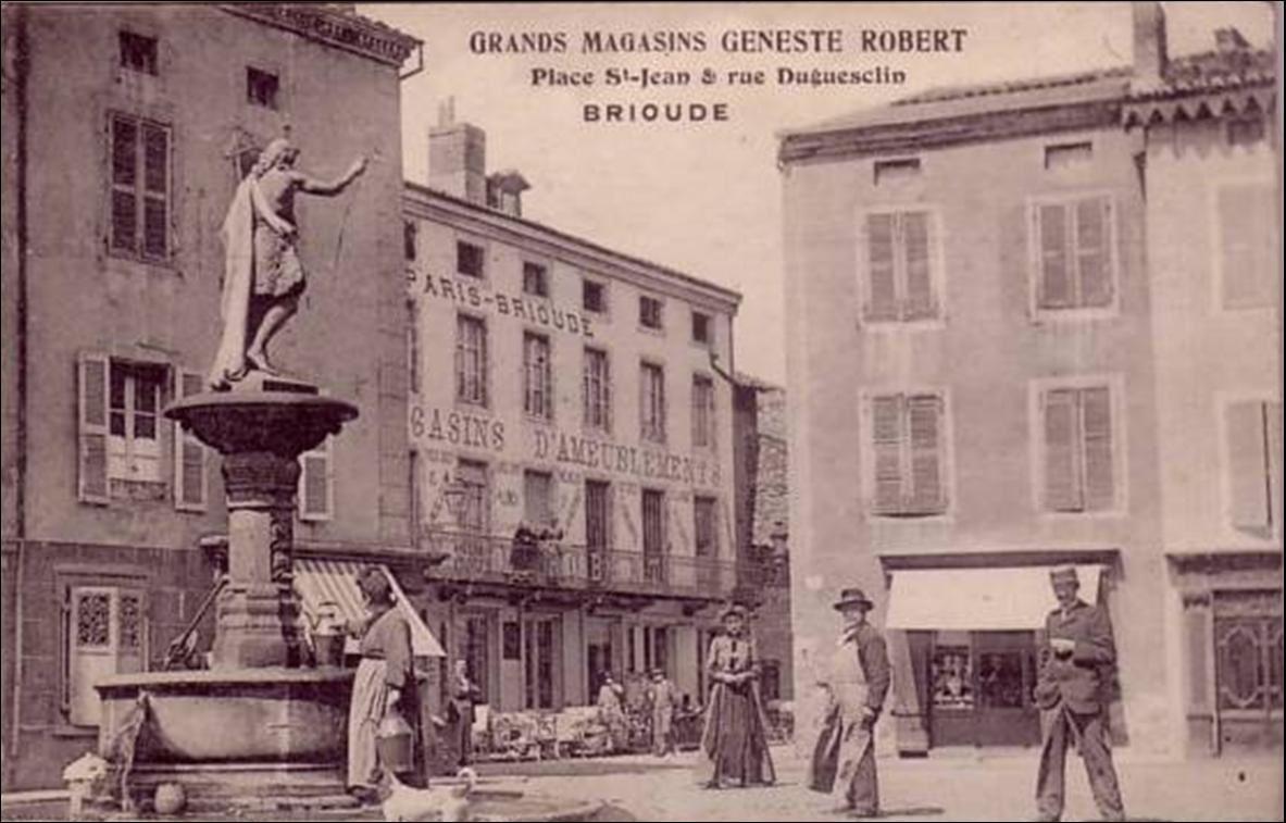 Les places de Brioude au travers du dernier siècle