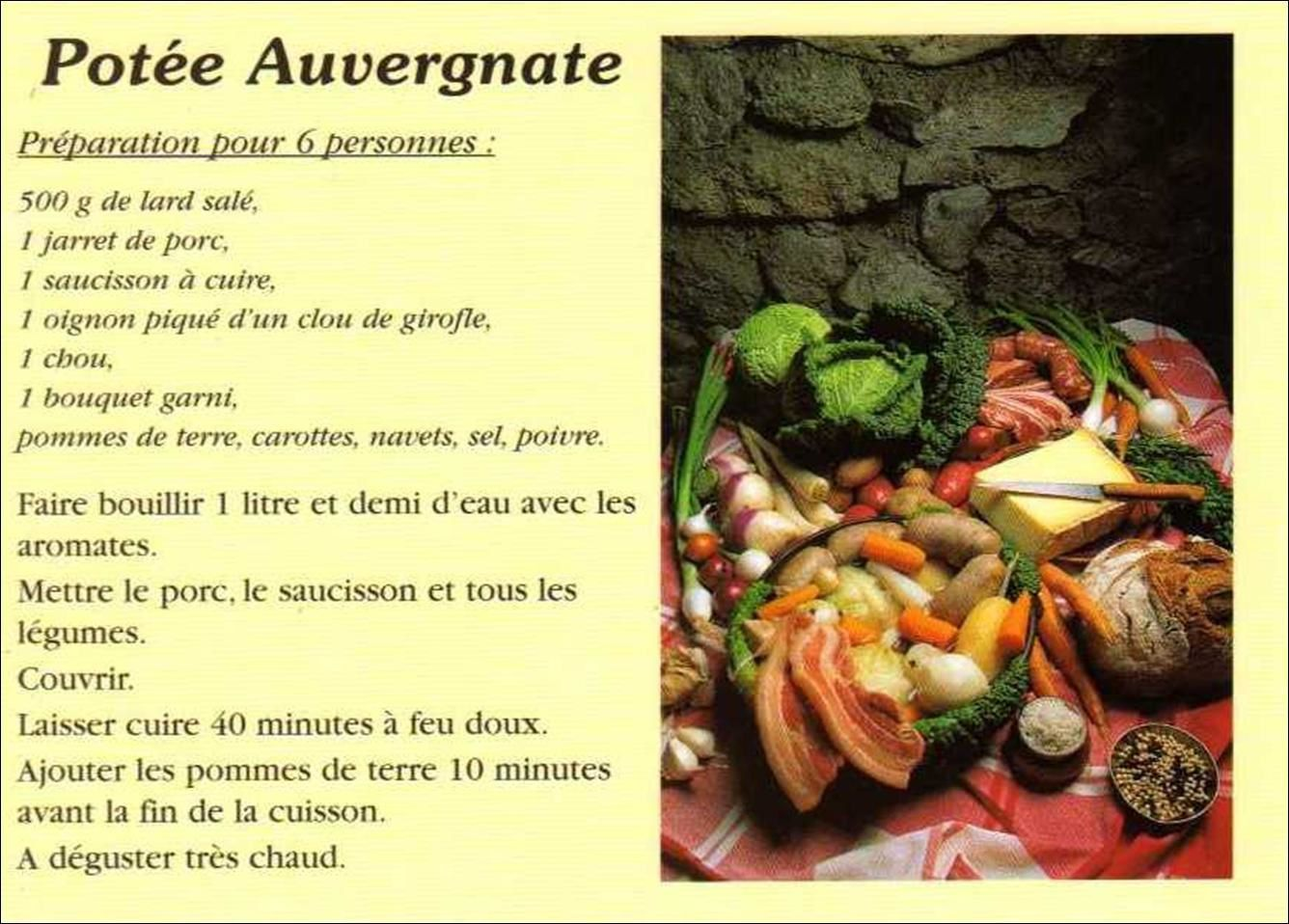 Recette potee auvergnate traditionnelle 28 images pot for Auvergne cuisine traditionnelle