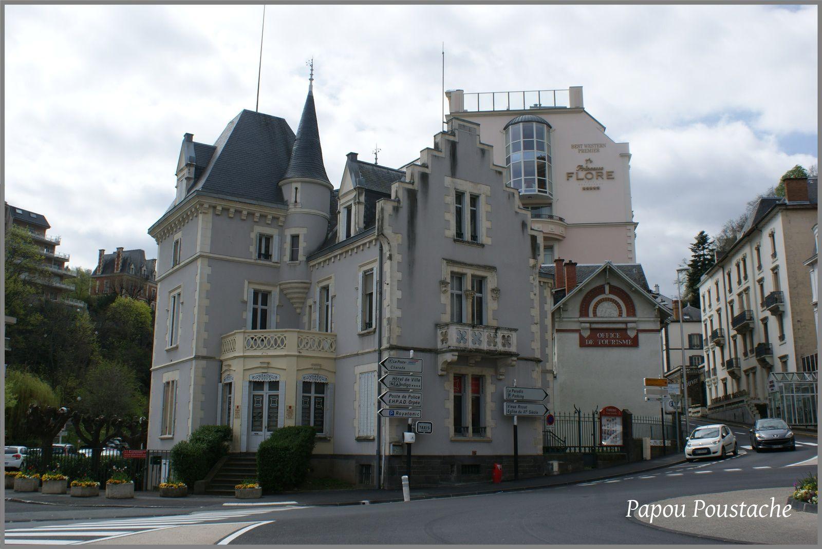 Hotel et maisons bourgeoises à Royat