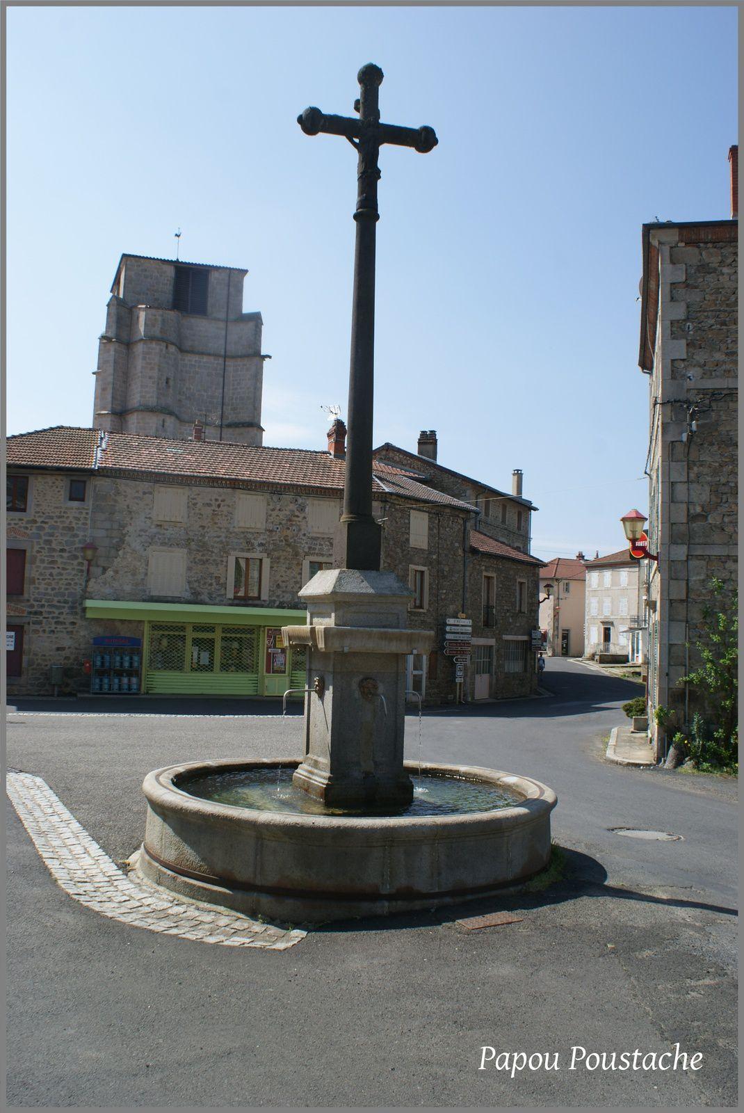 Monument et fontaines à Job