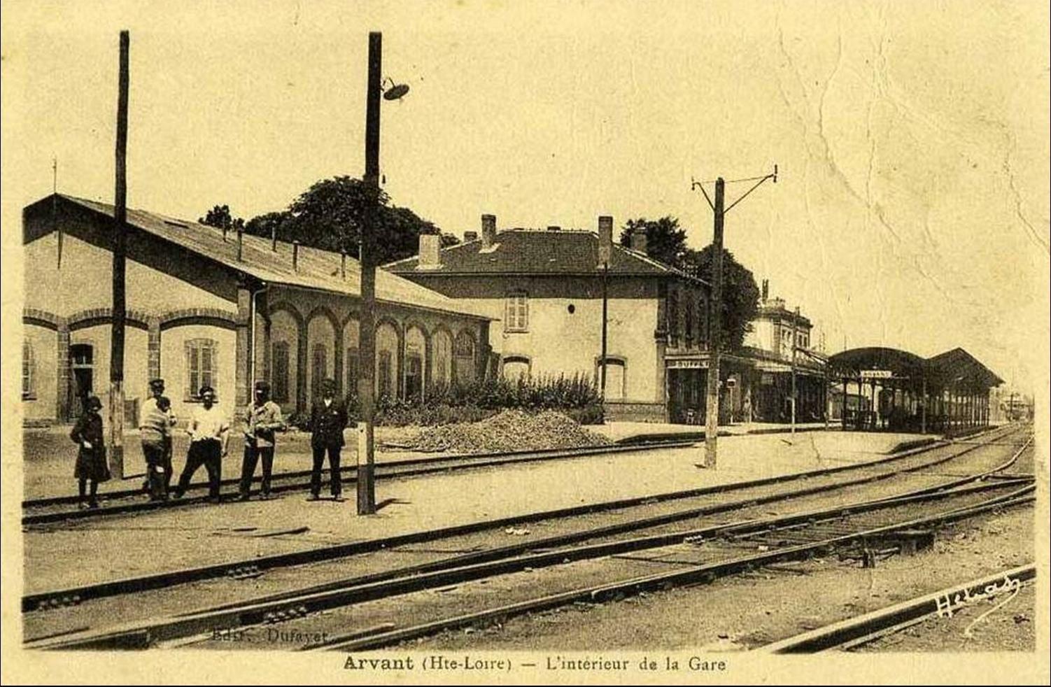 La gare d'Arvant