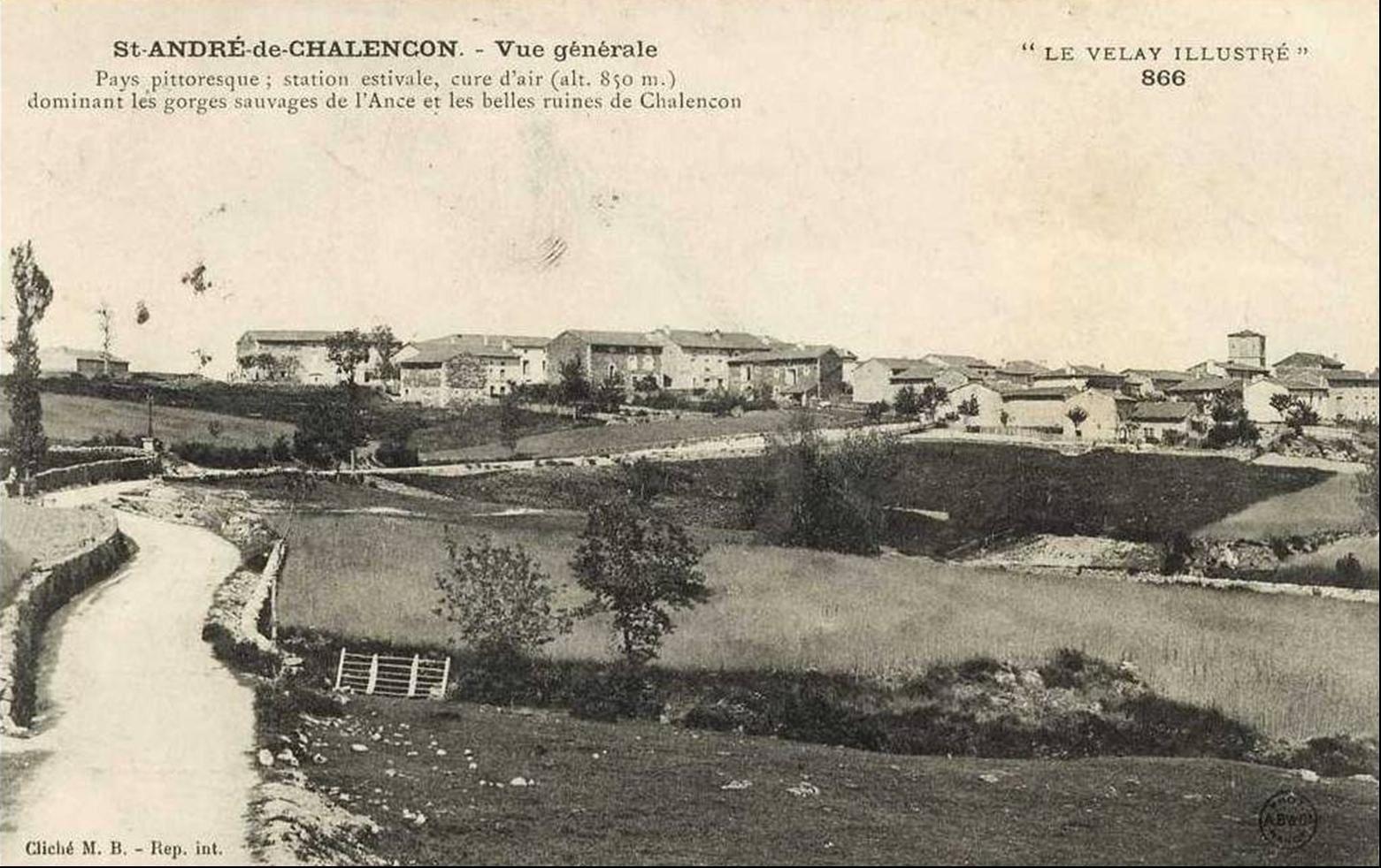 Saint André de Chalençon d'hier