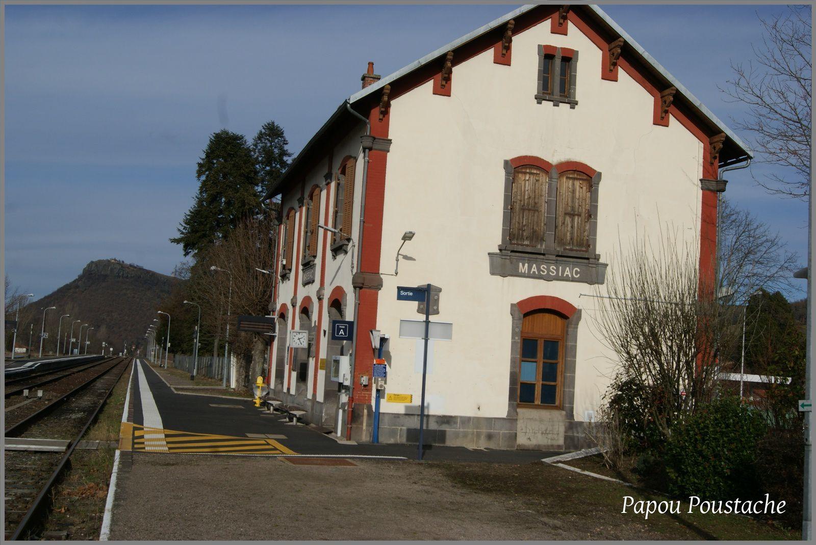 La gare de Massiac (Cantal)