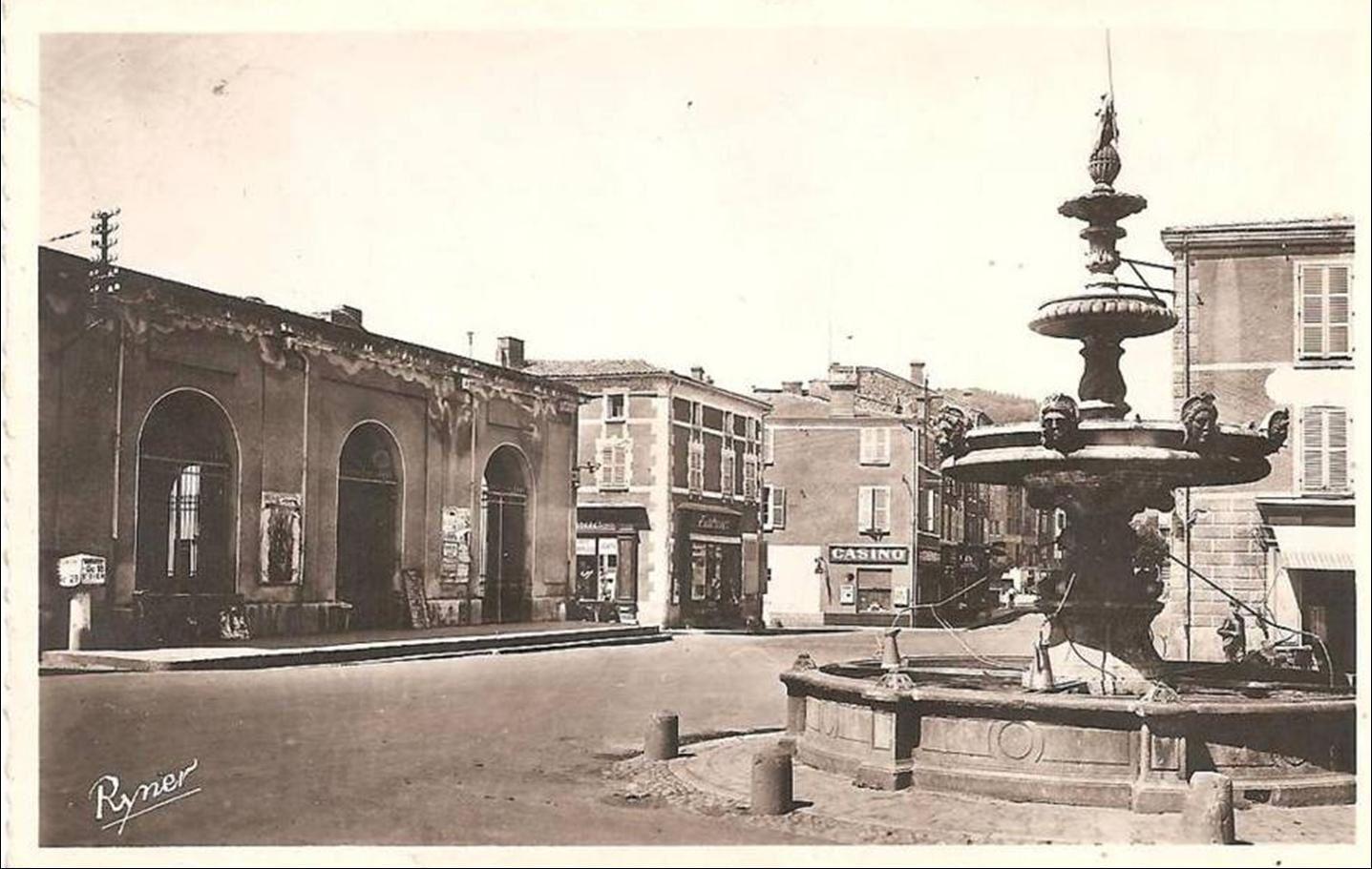 Les fontaines et monument à Billom