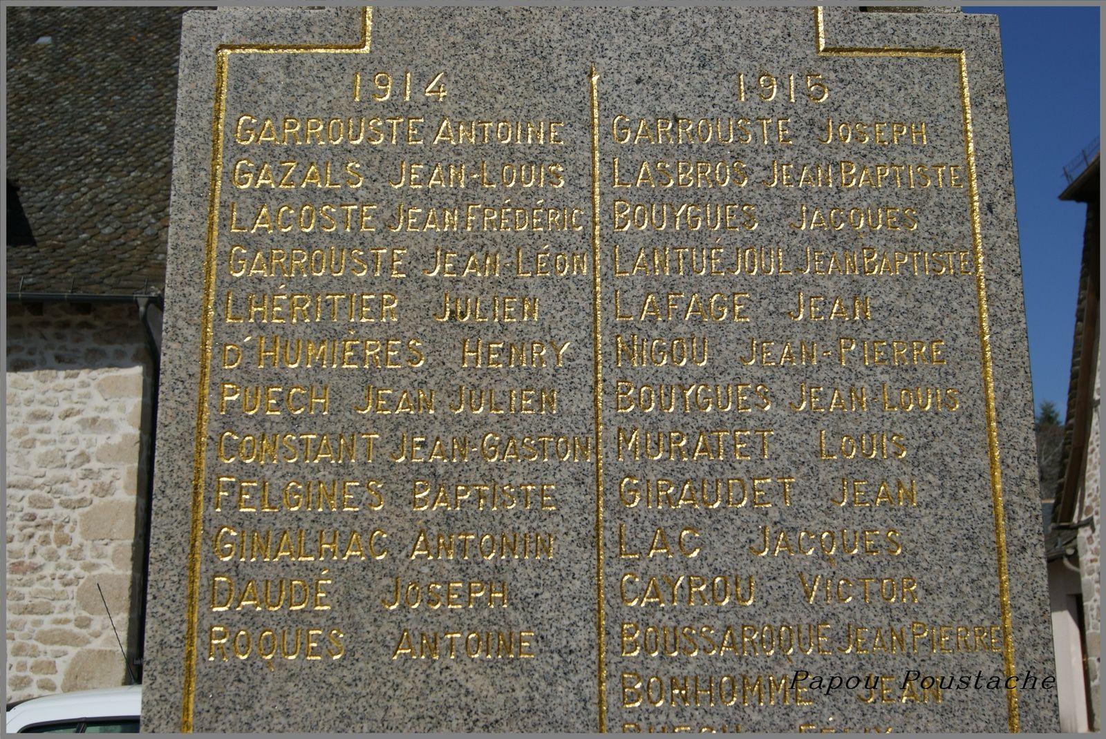 Monument et fontaine à Marcolès
