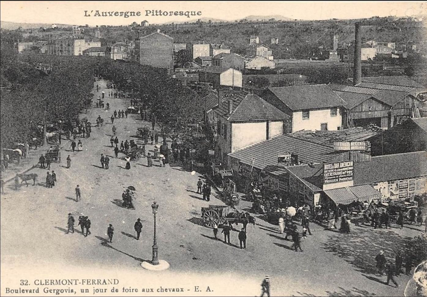 Jour de foire à Clermont Ferrand