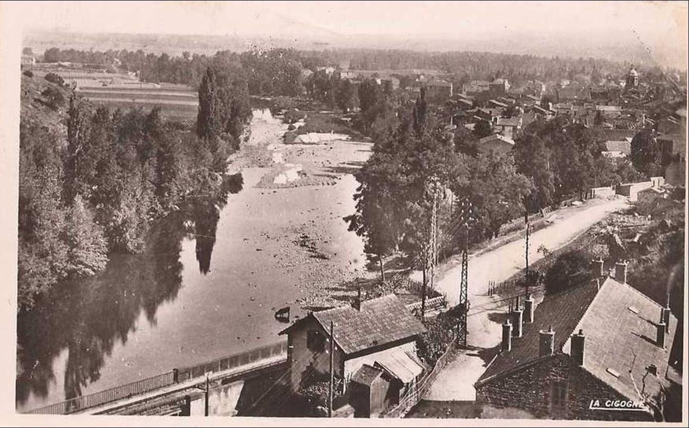 Lempdes et route de Laneau dans les années 50-60