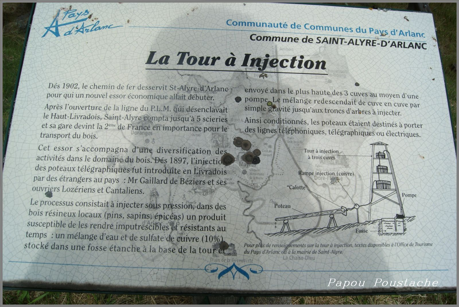 Usine d'injection de poteaux à Saint Alyre