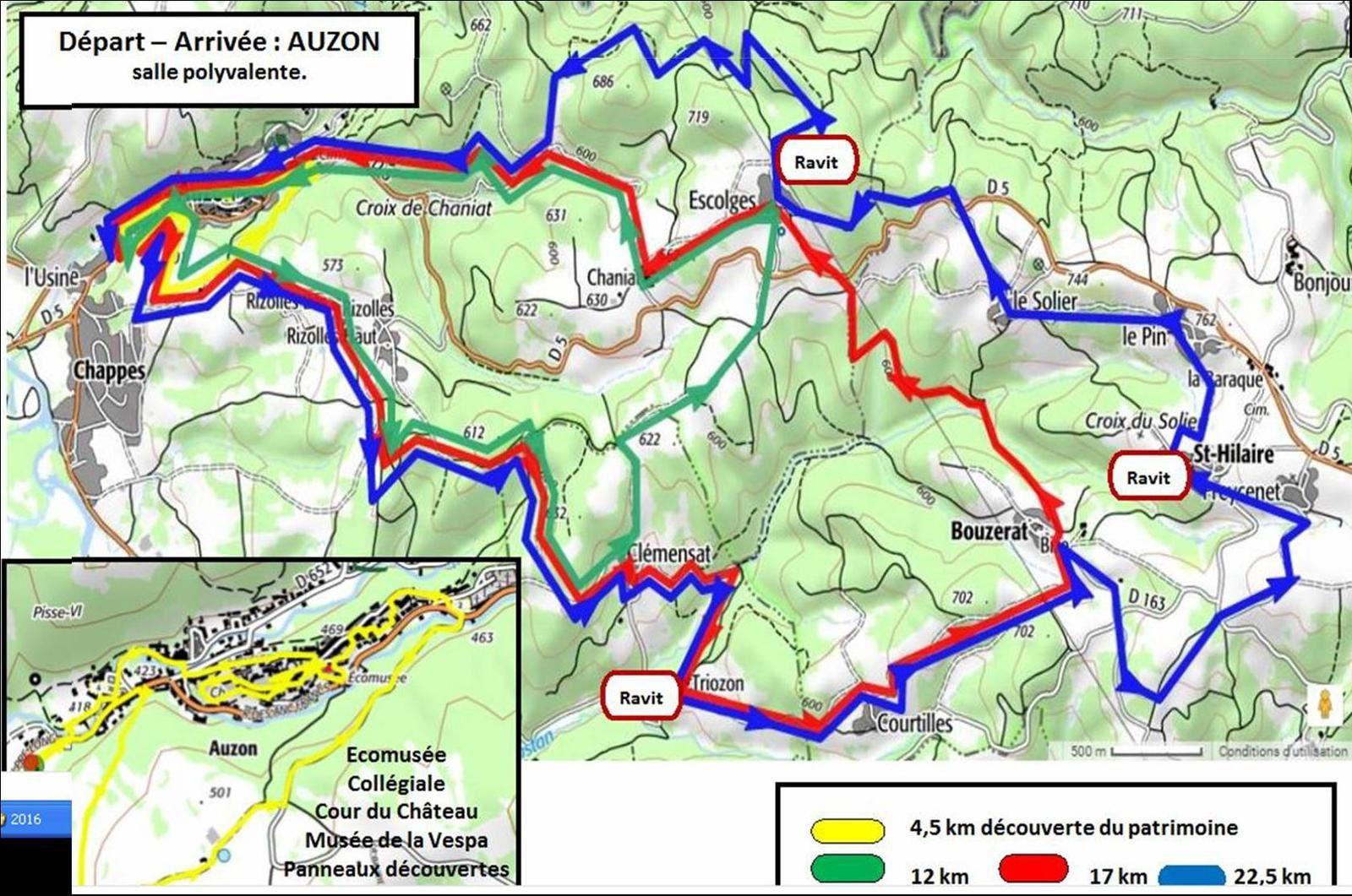 Randonnée 2016  à Auzon