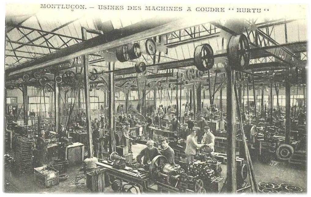 Les machines à coudre Hurtu à Montluçon(03) histoire de Hurtu
