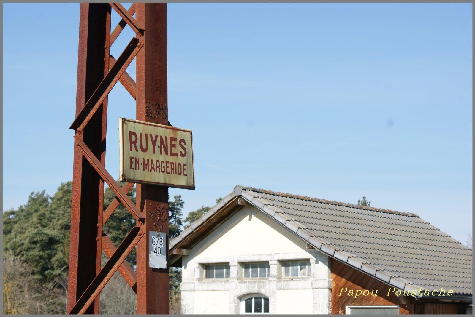 La gare de Ruynes en Margeride