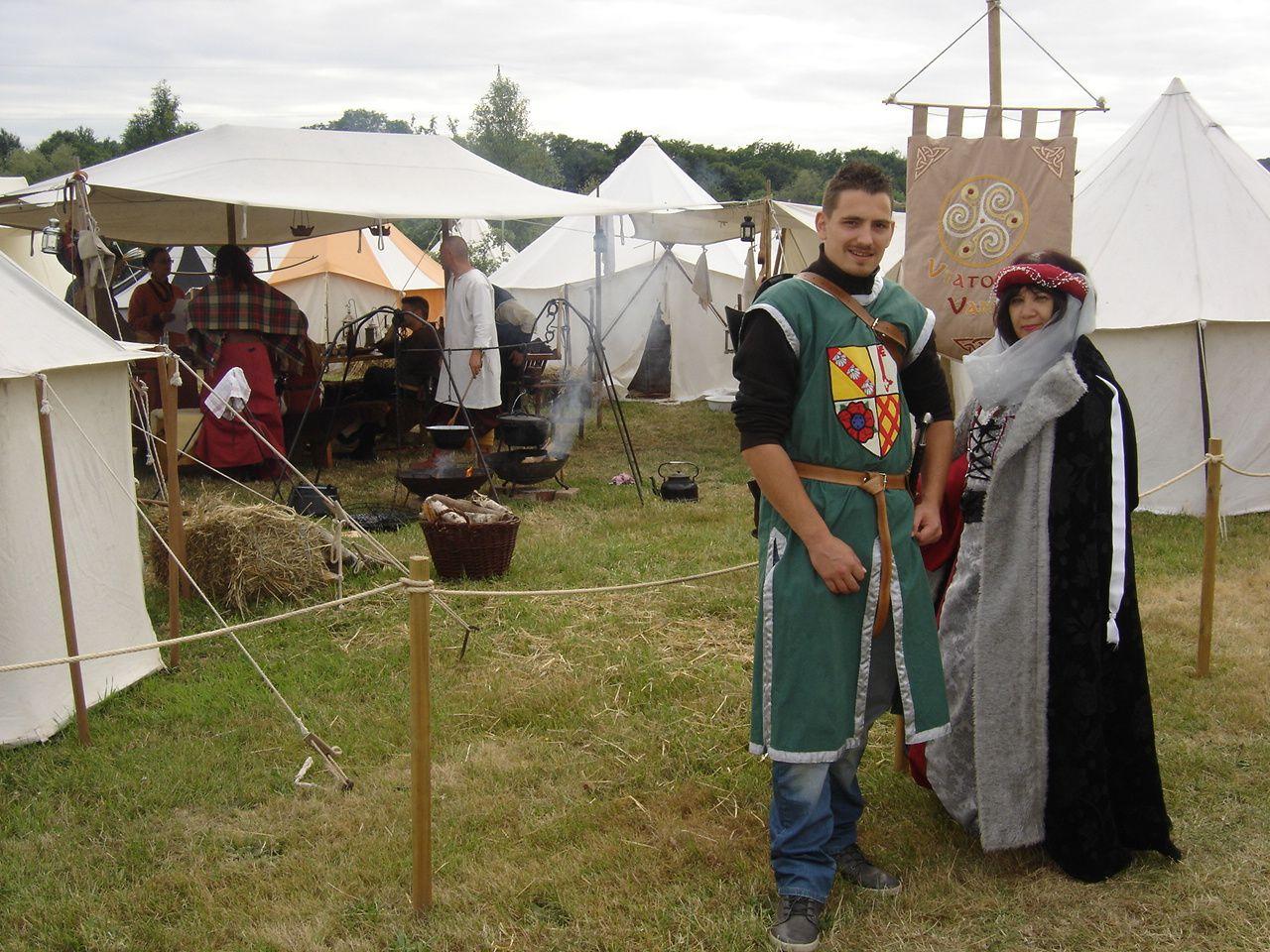 Visite de Gente dame Renée et les chevaliers Daniel et Mathieu à Beckingen