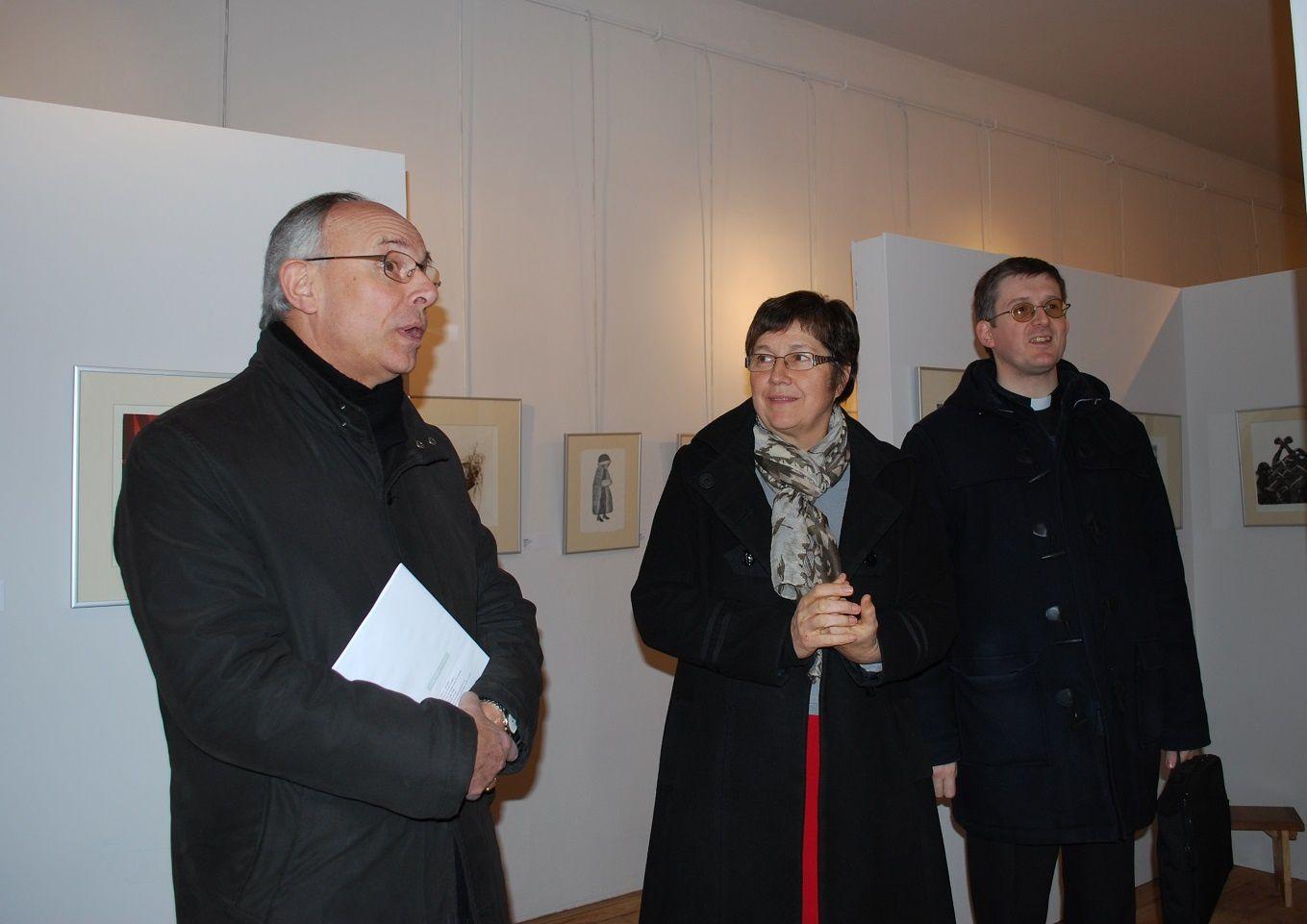 Monseigneur l'Archevêque d'Albi en visite au musée