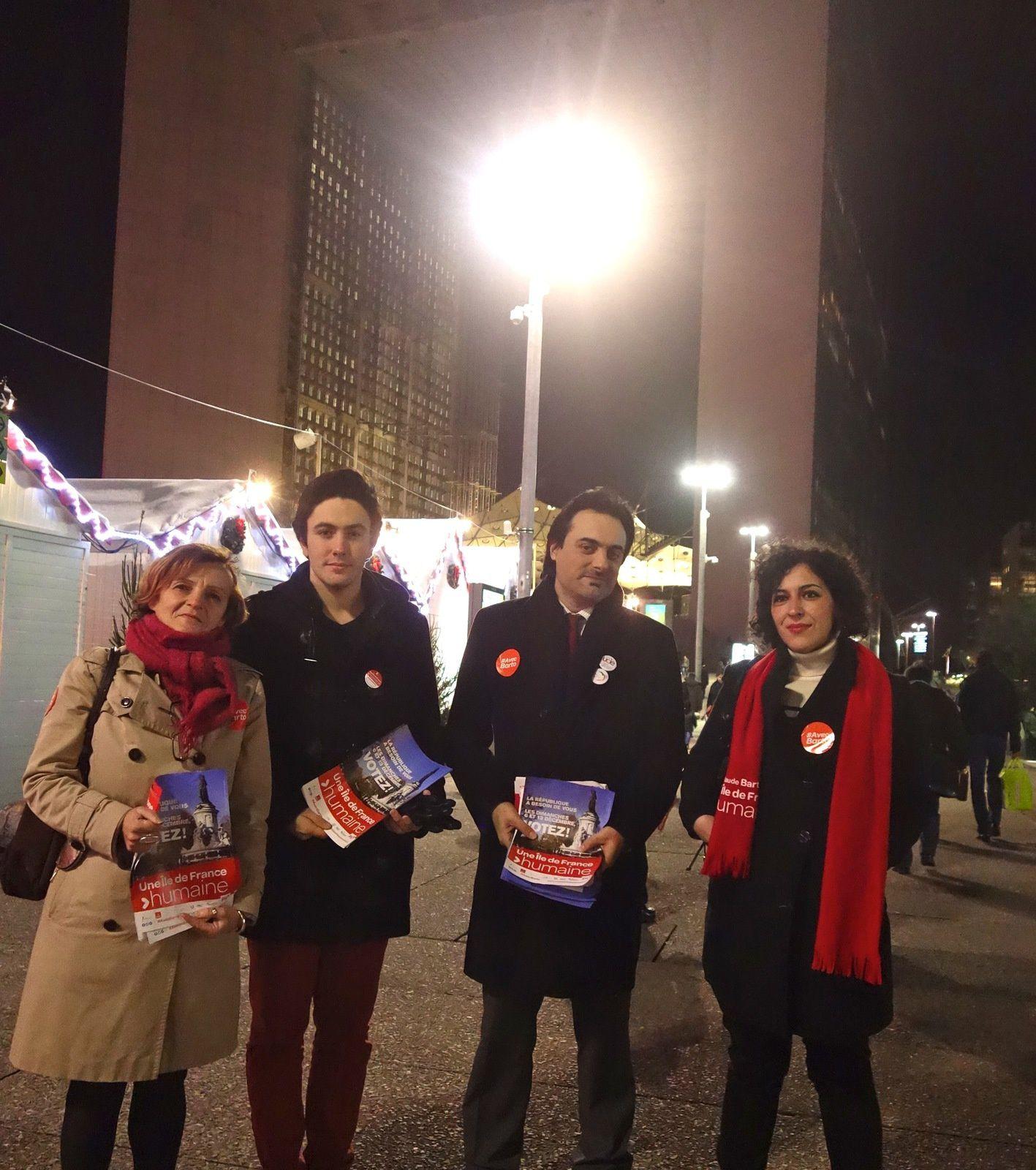 Les Asniérois du PS et du Front Dem en campagne !