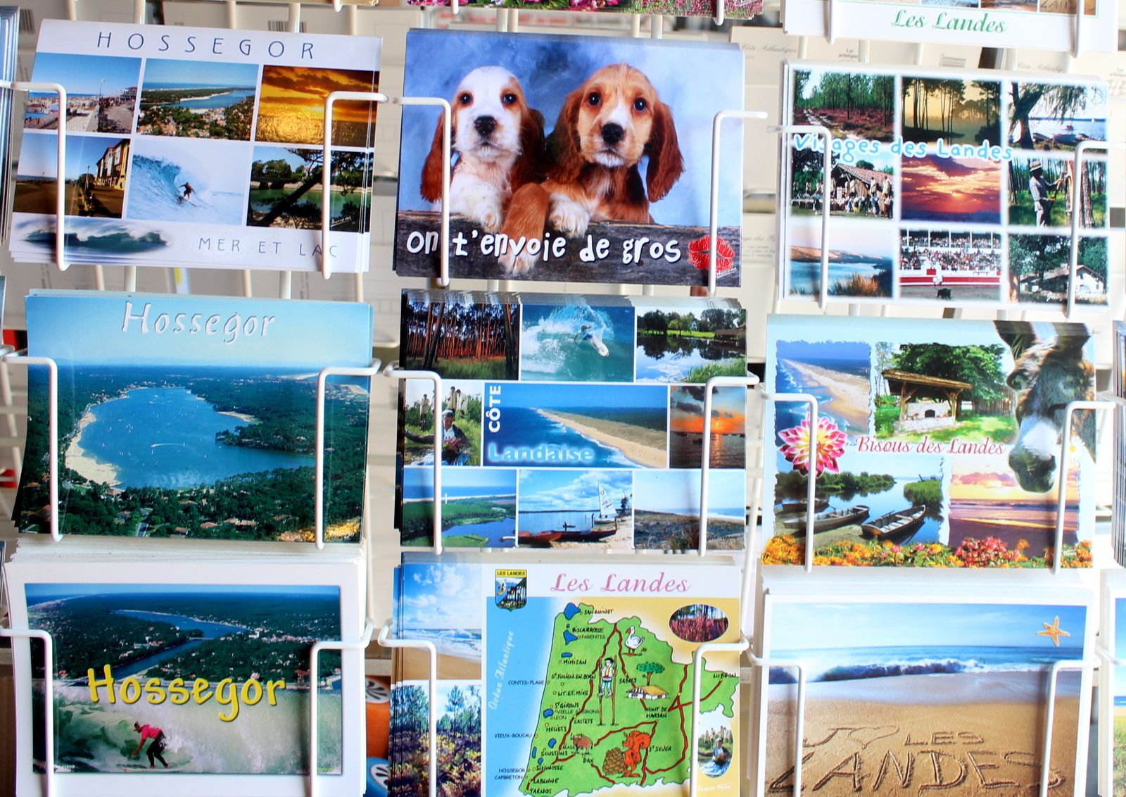 melting pot de cartes postales des landes