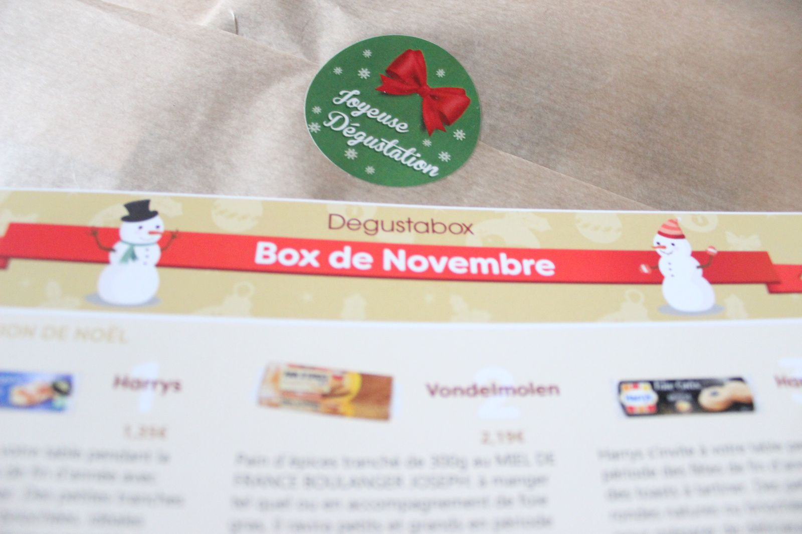 What's in the Degustabox ? Novembre 2016