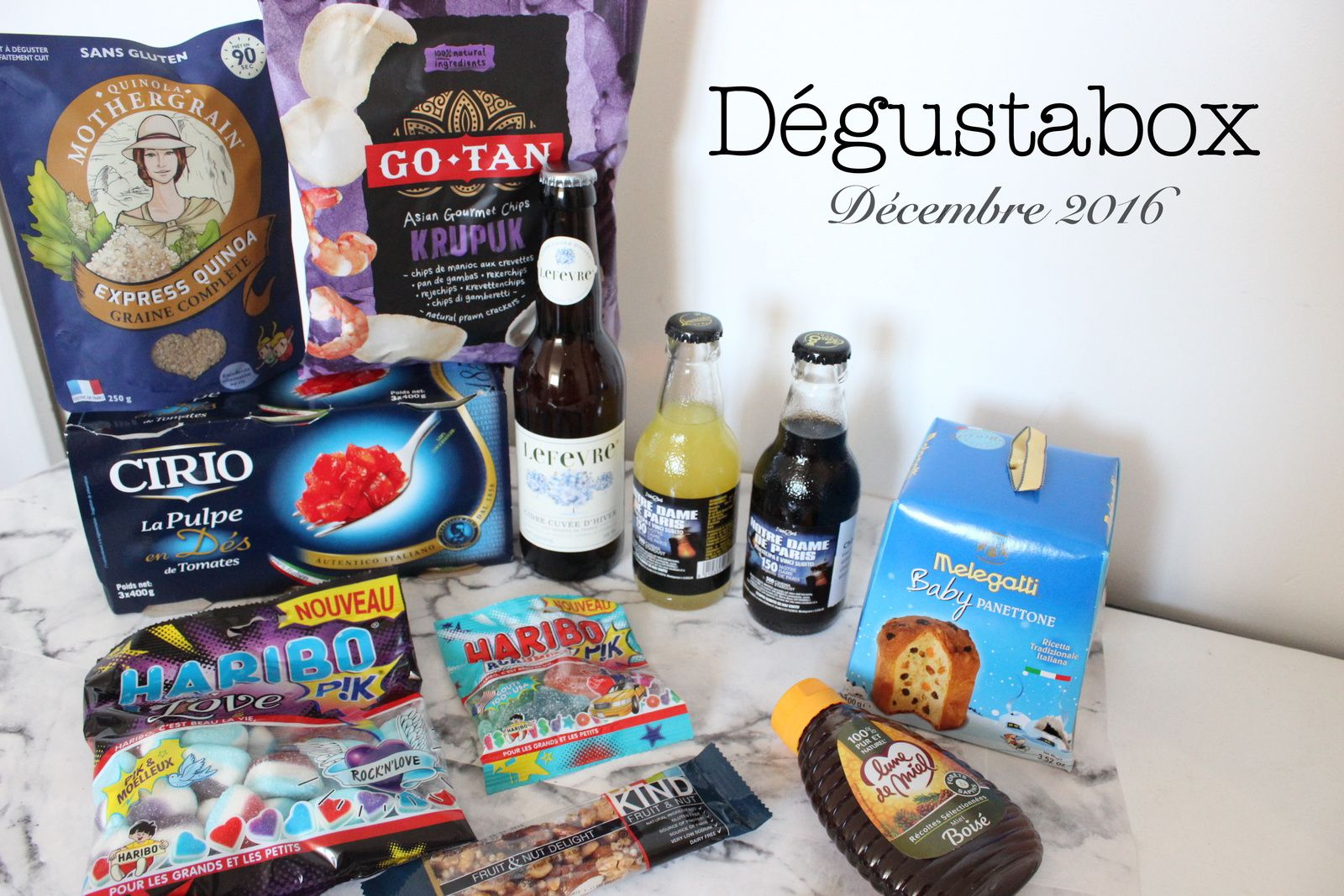 What's in the Degustabox : décembre 2016