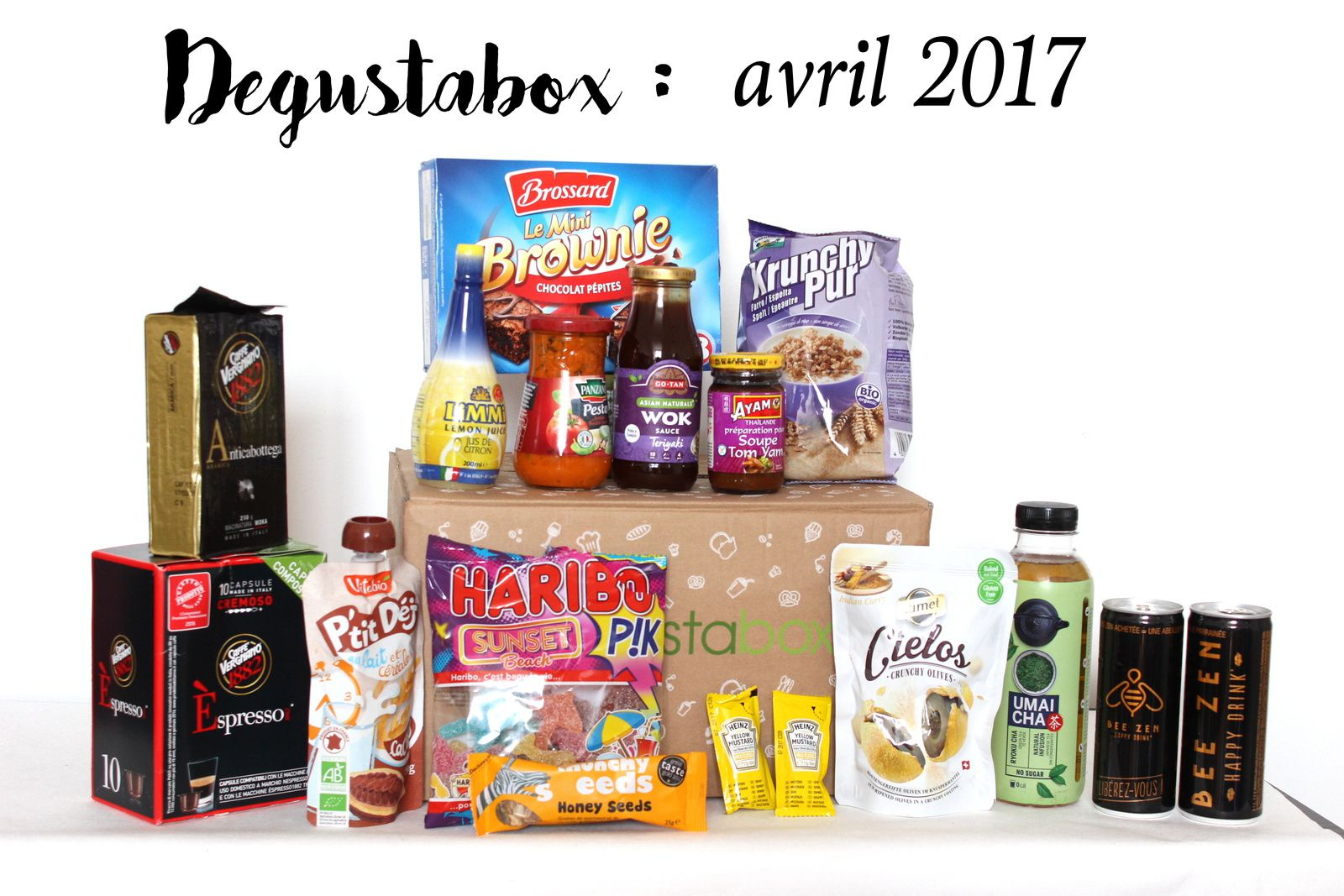 What's in the Degustabox : avril 2017