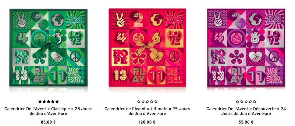 calendriers de l'avent The Body Shop