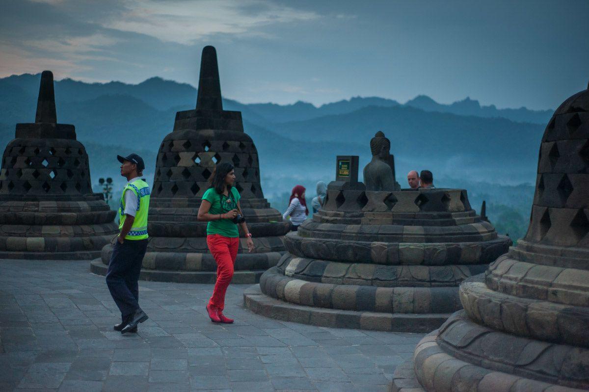 Borobudur dur d'être touriste