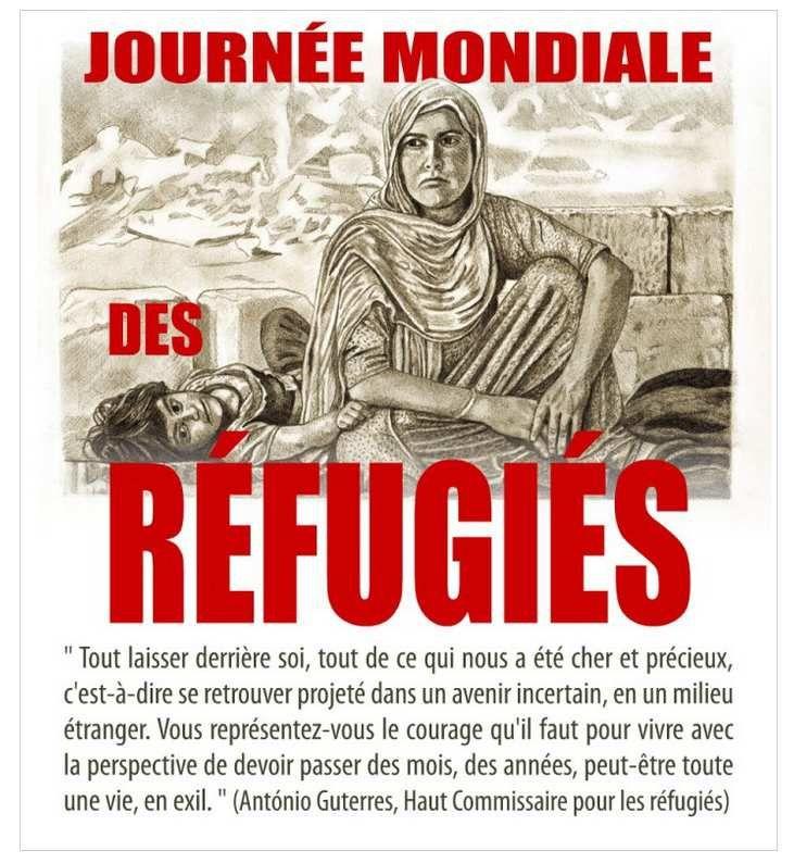 Journée mondiale des réfugiés, le 20 juin