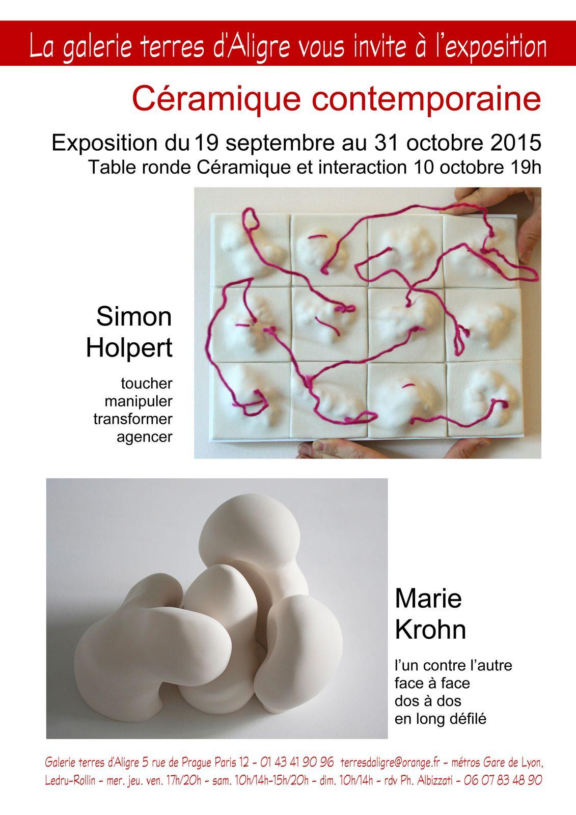 Céramique contemporaine - Marie Krohn - Simon Holpert