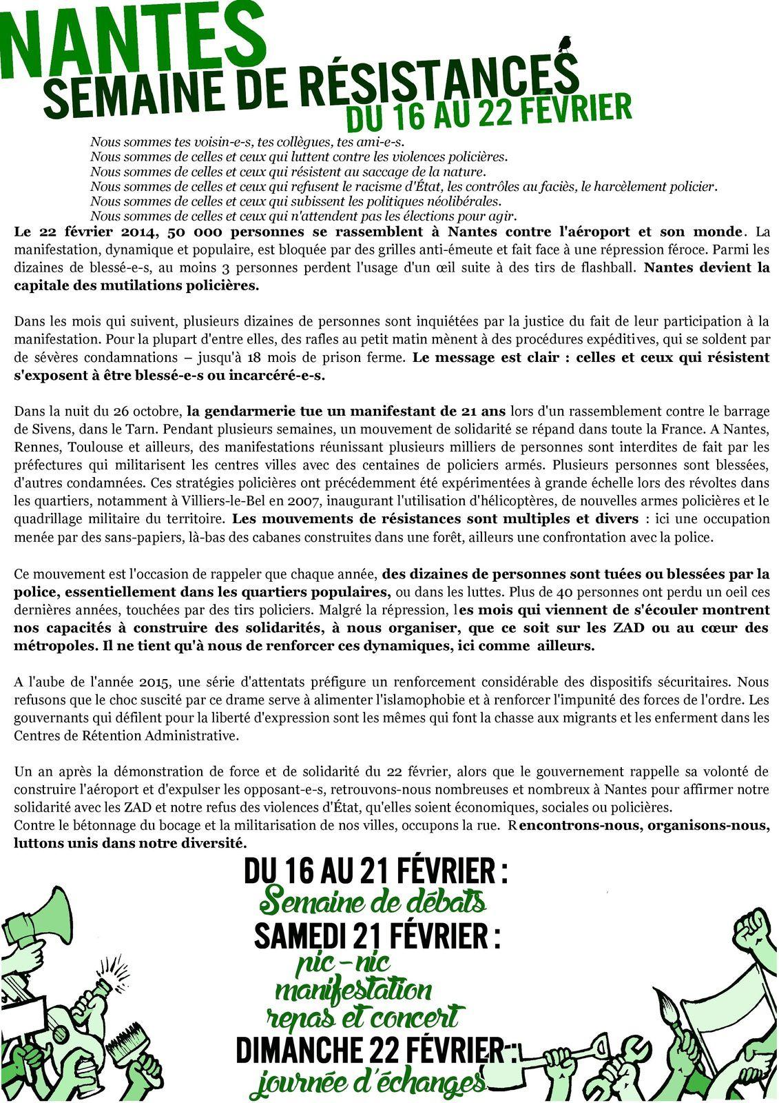 SEMAINE DE RESISTANCES