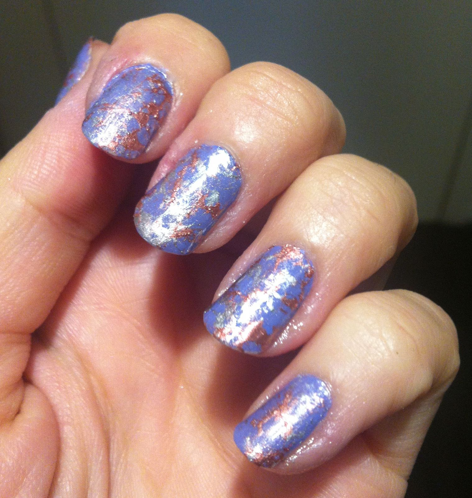water spotted nails -1er essai- et swatch Moyra 45