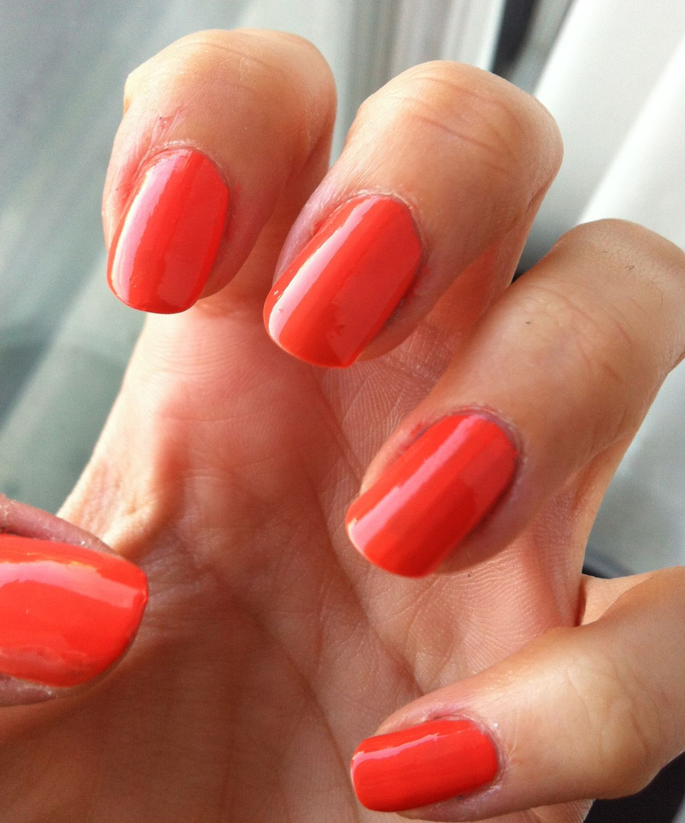 tequila sunrise nail art- gosh 021 peachy rose szwatch