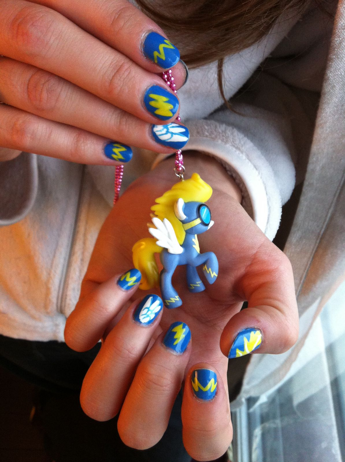 my little pony - wonderbolts nails