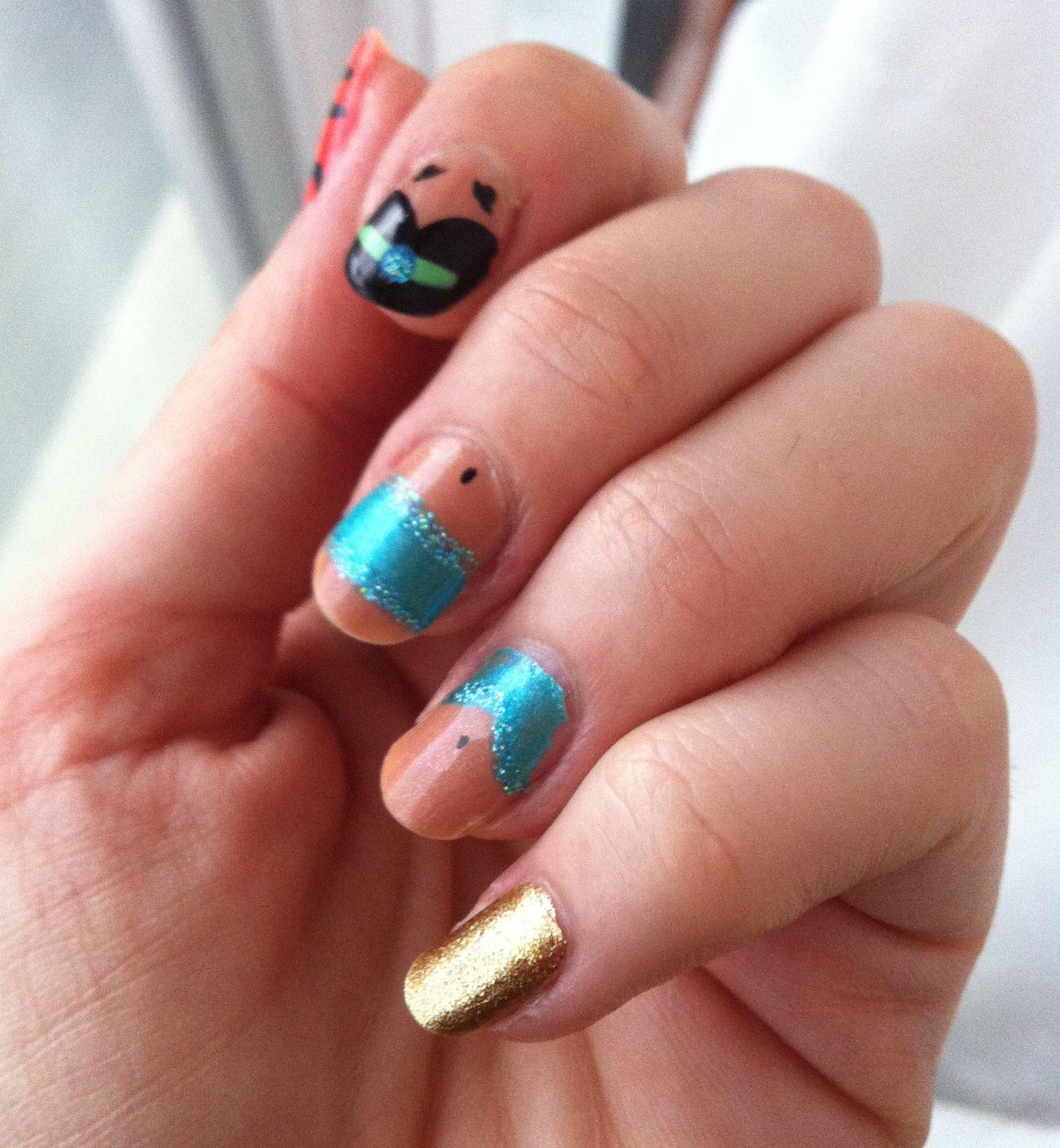 disney nails jasmine